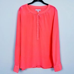 Banana Republic Silk Henley Blouse